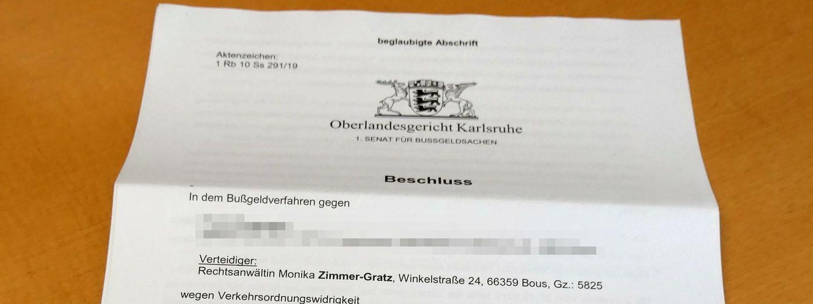 Oberlandesgericht Karlsruhe: Unterlagen von Geschwindigkeits- und anderen Messungen dürfen eingesehen werden